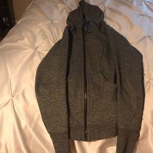 Grey/black lulu lemon hoodie